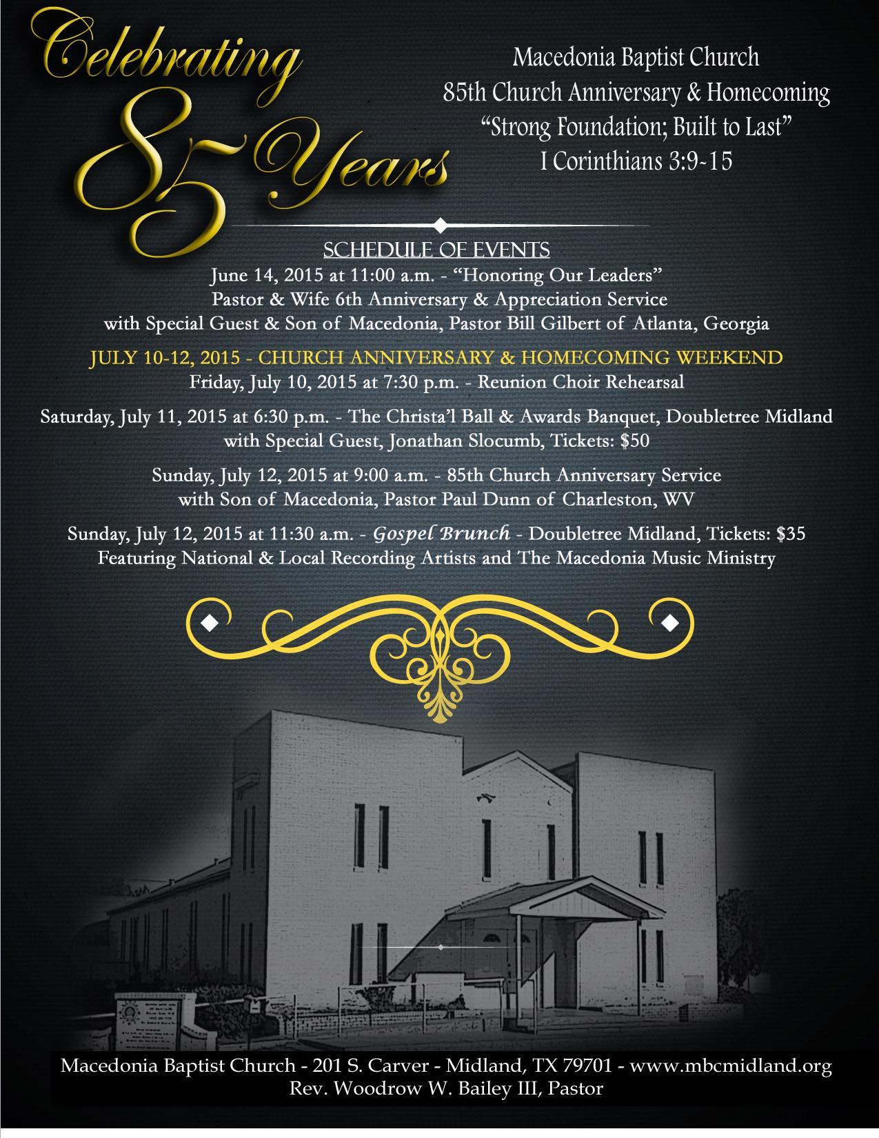 Church Anniversary Themes And Scriptures Macedonia baptist church ...